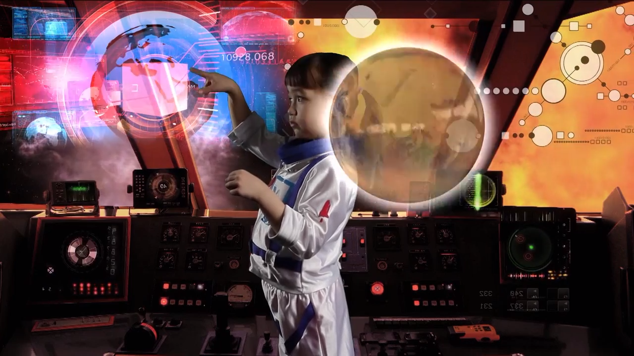 How to Celebrate International Women's Day - young girl in spaceship