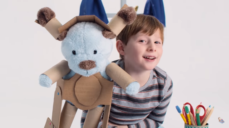Imaginative Play - boy with toy