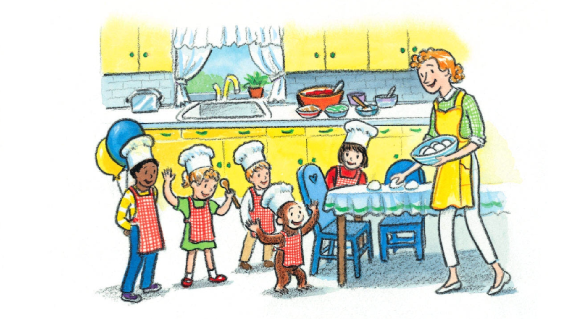 Pizza crafts - Curious George and the pizza party