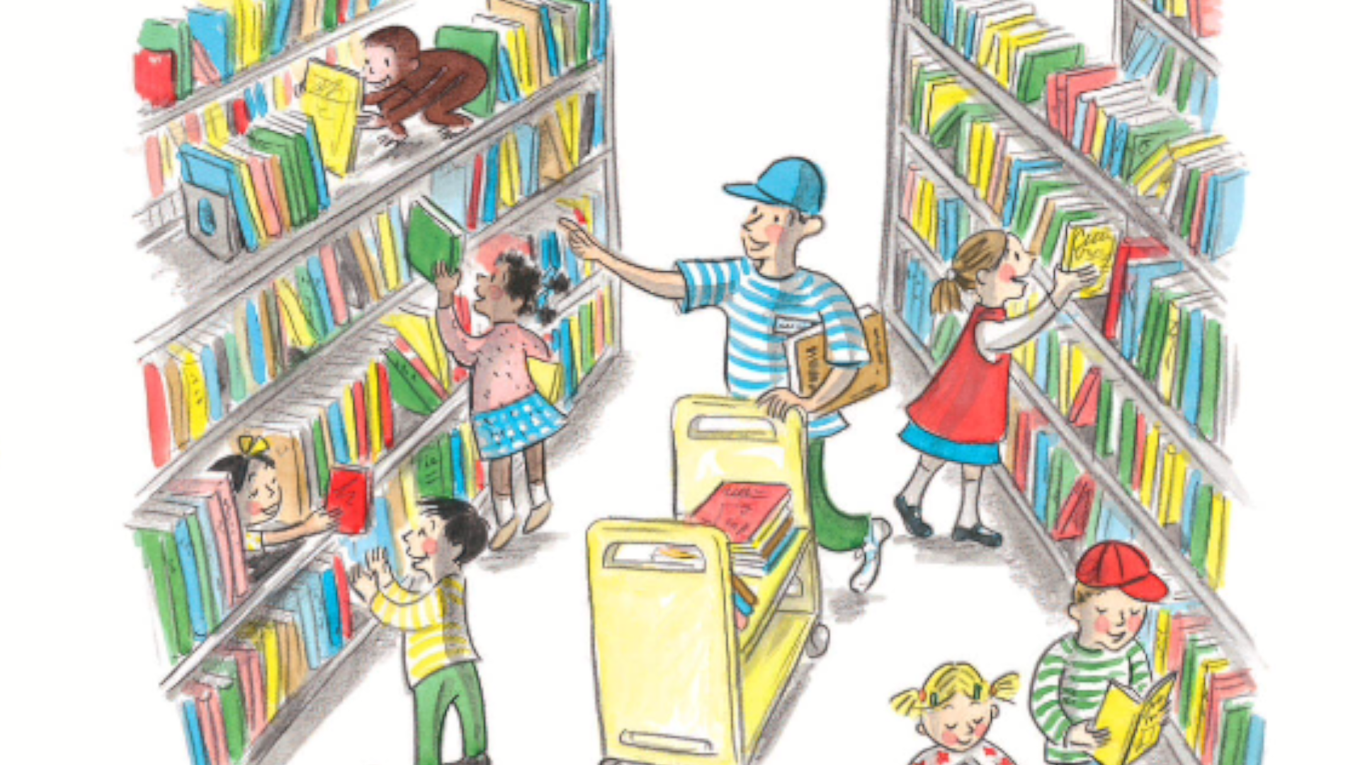 Curious George Life Lessons - at the library