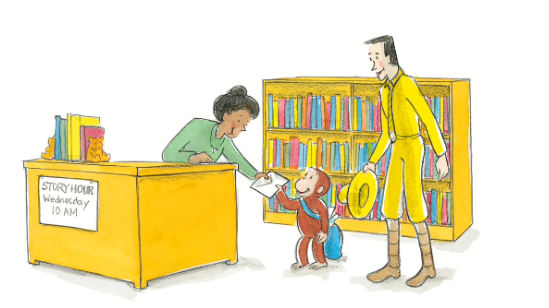 Curious George Life Lessons - George hands out thank you cards