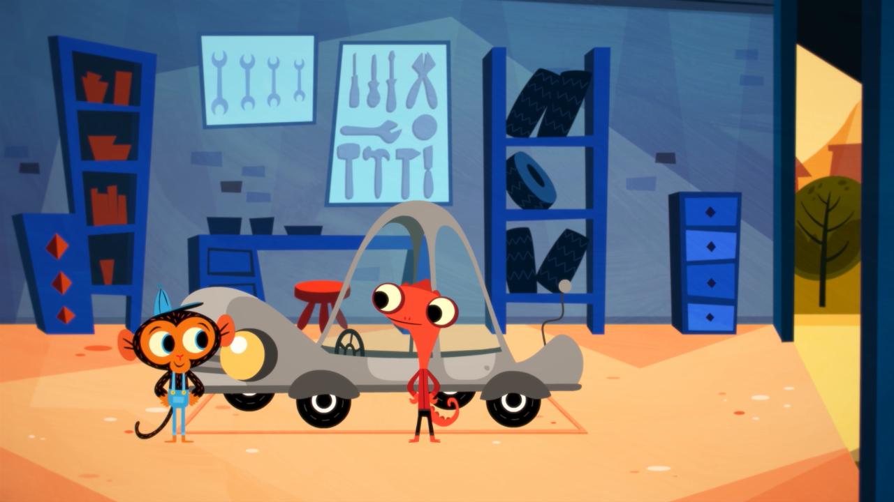 Problem solving kids' show - Mr Monkey and Mr Chameleon
