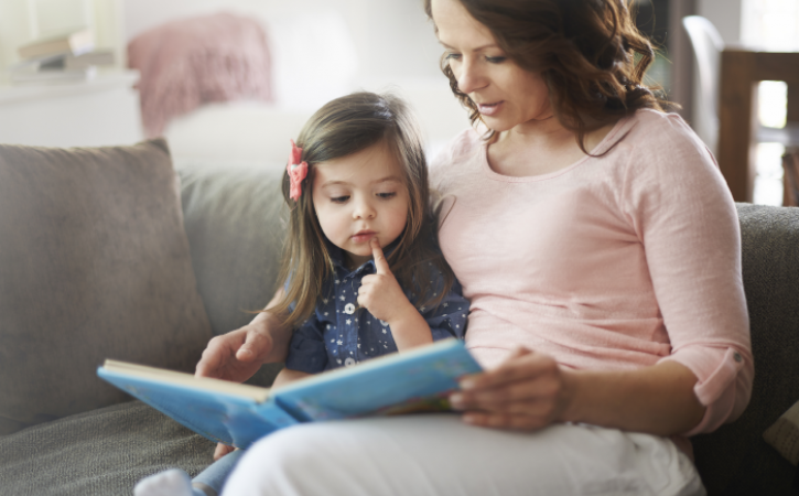 What Kids Can Learn From Beauty and the Beast - mother reading to child