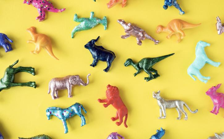 Multicolored toys - teaching children colors